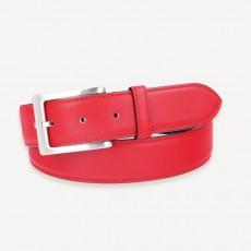 Vacchetta Rindledergürtel rosso