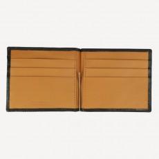 Portmonnaie Clip Card Coin Kalbleder schwarz