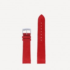 Suede bright red
