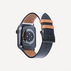 California Cupertino Black & White Handgenäht für Apple Watch