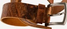 Vegetabil Vintage Rindledergürtel