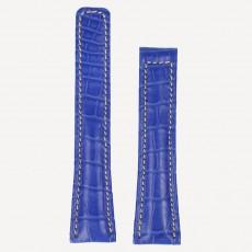 Alligator Chrono FS L 22/18mm mit Kontrastnaht Brillantblau